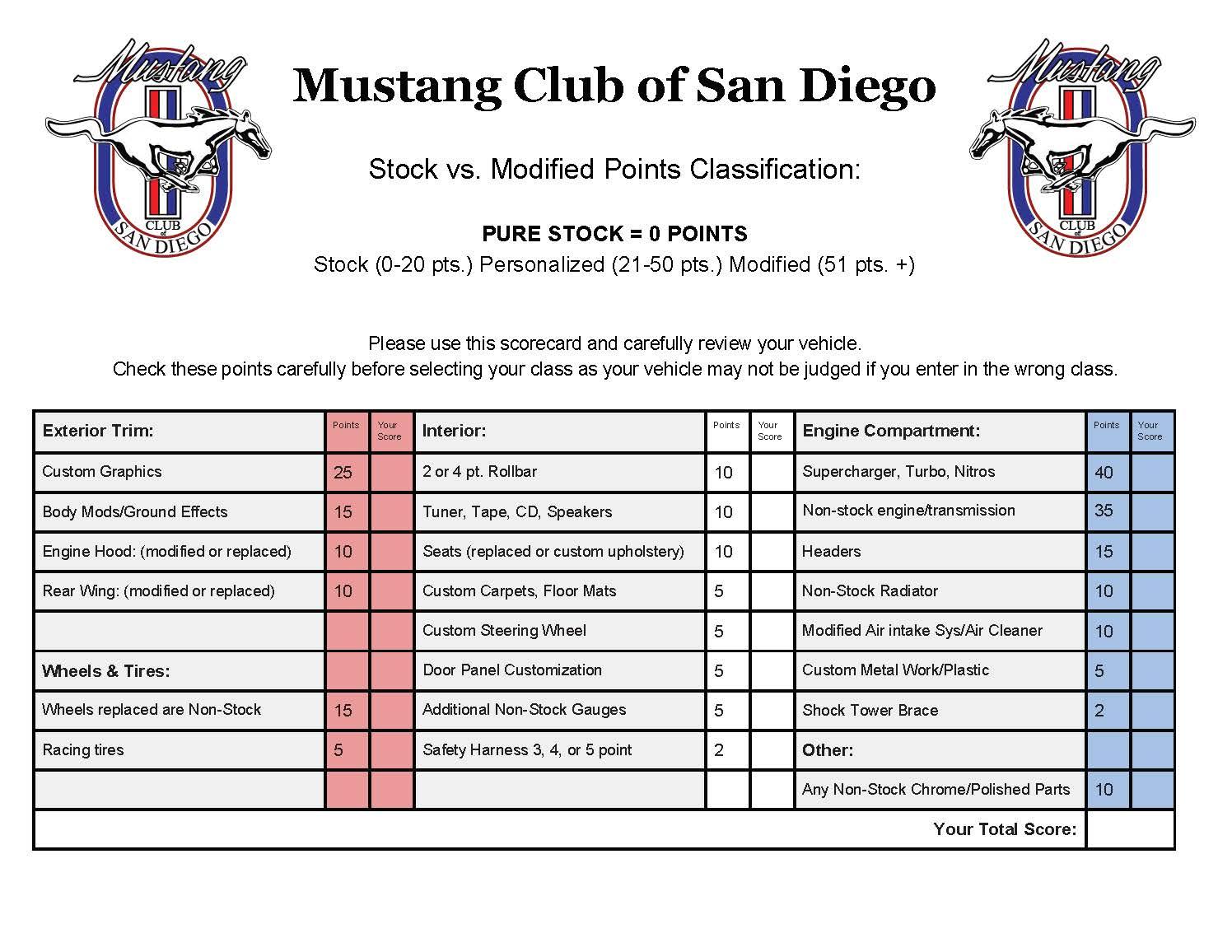 Mustang Club Of San Diego